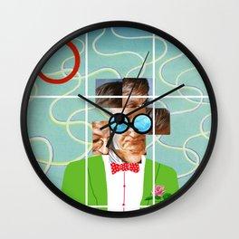 Hockney illustration Wall Clock