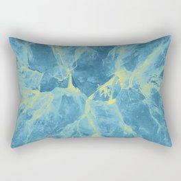 Blue crystals Rectangular Pillow