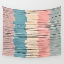 Colorful Grunge Stripes Wall Tapestry