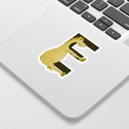 Pony Monogram Letter E Sticker