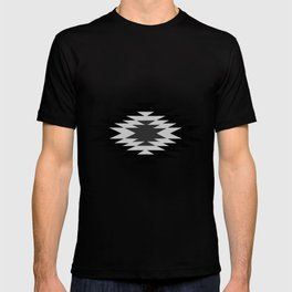 Aztec - black and white T-shirt