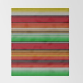 Mexican serape #6 Throw Blanket