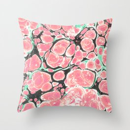 Deliciously Marble #society6 Throw Pillow