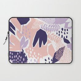 Pastel Cut-Out Abstract Collage Laptop Sleeve