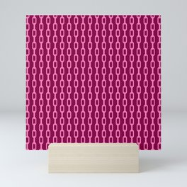 Chainlink No. 1 -- Magenta Mini Art Print
