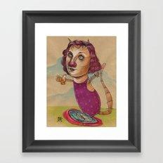 KITTY'S WATER WINGS Framed Art Print