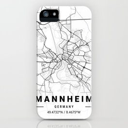 Mannheim Light City Map iPhone Case