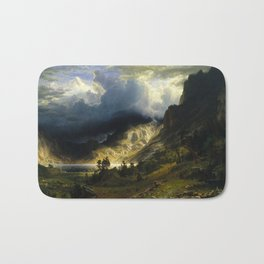 Albert Bierstadt - A Storm in the Rocky Mountains, Mt. Rosalie Bath Mat