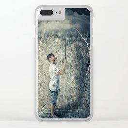 umbrella cloud Clear iPhone Case