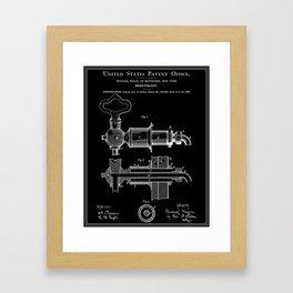 Beer Faucet Patent - Black Framed Art Print