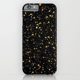 Glitter Stars3 - Gold Black iPhone Case