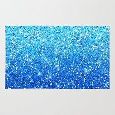 Blue Glitters Sparkles Texture Rug
