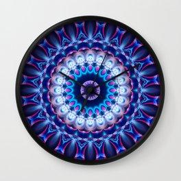 Mandala cosmic light Wall Clock