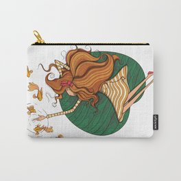 Girl and fish Carry-All Pouch