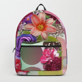 Flowers, Circles, & Colorful Abstract Backpack