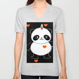 It's a Pandacorn Valentine's Day Unisex V-Neck