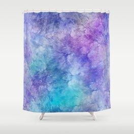 Frozen Leaves 12 Shower Curtain