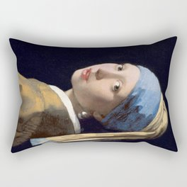 Girl With a Pearl Earring - Vermeer Rectangular Pillow
