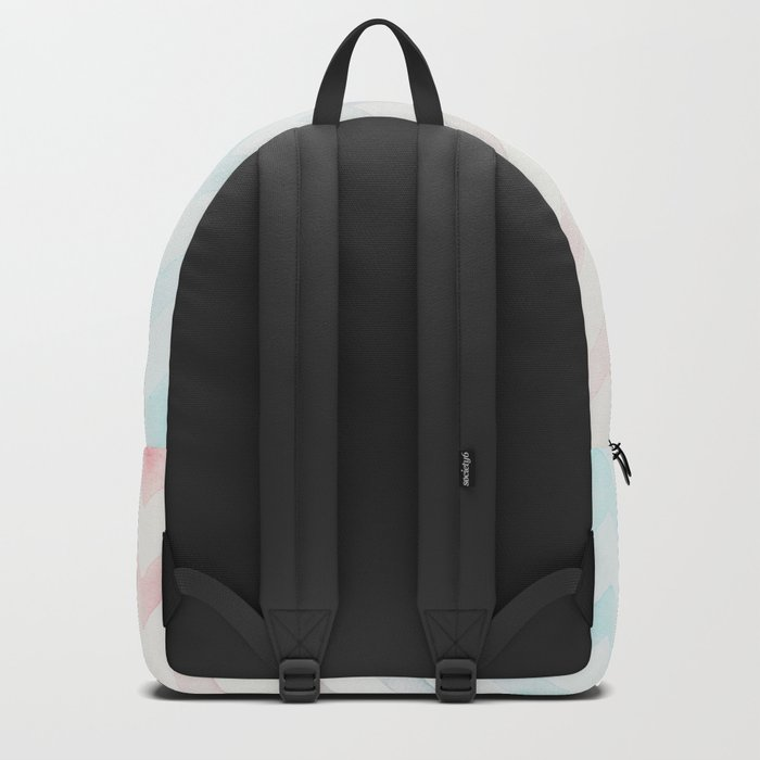 Watercolor Chevron pastel colors Backpack