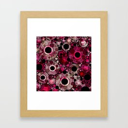 Vibrant Abstract Pink Bubbles design Framed Art Print