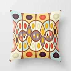 Wavy geometric abstract Throw Pillow