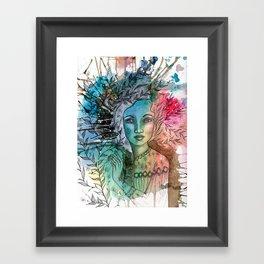 Floral Lady Framed Art Print