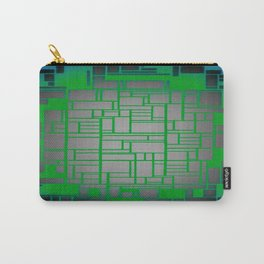 Teal Green Art Deco Pattern Carry-All Pouch