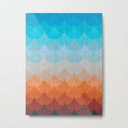 Colorful minimalist waves II Metal Print