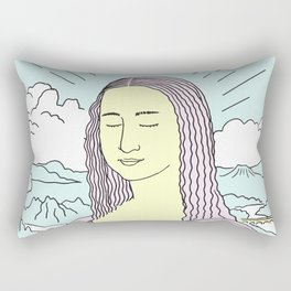 Mona Lisa Pop Rectangular Pillow
