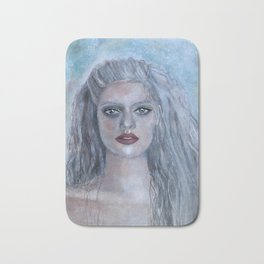 Portrait of a French Mermaid Bath Mat