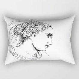 Begarelli Head of a Woman 1565 Rectangular Pillow