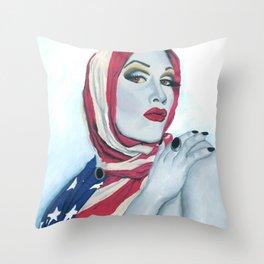 American Ladyboy Throw Pillow
