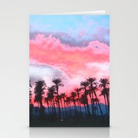 coachella Stationery Cards featuring Coachella Sunset by The Bun