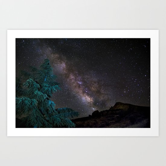 """""""Milky-way at the mountains"""". Summer  Art Print"""