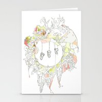 tooth Stationery Cards featuring sugar tooth by Cassidy Rae Marietta