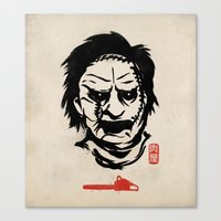 butcher billy Canvas Prints featuring Butcher by pigboom el crapo