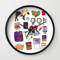 parks and recreation Wall Clocks featuring Parks & Recreation  by Shanti Draws