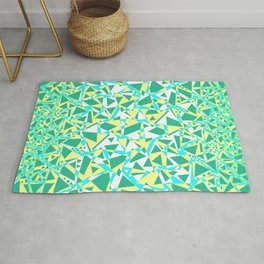 Pieces of colourful broken glass in summer colors Rug