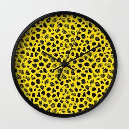 Crayon Rocks 13 | Black & Yellow Wall Clock