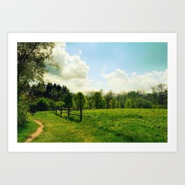 Plain and tall Art Print