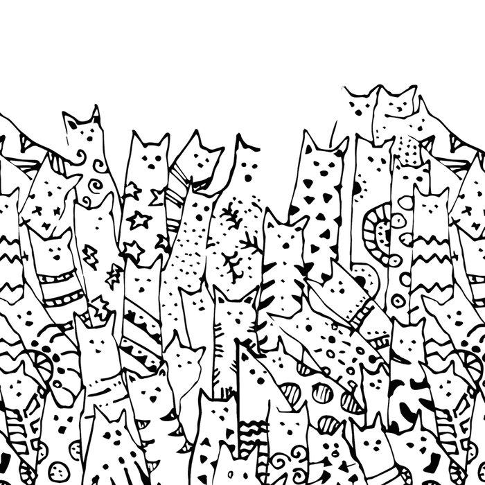 Cat Doodles Leggings