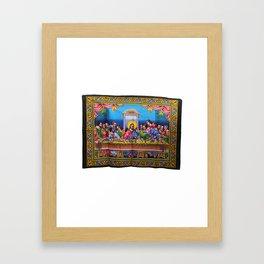 Jesus Christ Disciples Last Supper Sequin Wall Hanging Framed Art Print