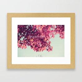 Life Is But a Dream. 2 Framed Art Print