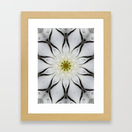 White Flower Design Framed Art Print