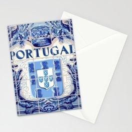 Portugal, art tile Stationery Cards