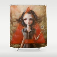 1984 Shower Curtains featuring Ministry of Love by Ania Tomicka