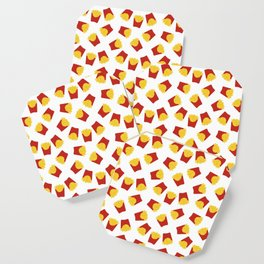 FRENCH FRIES POMMES FAST FOOD PATTERN Coaster