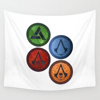 games Wall Tapestries featuring Assassin Games by AngoldArts