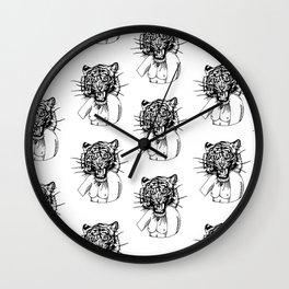 The Fierce Tiger Woman Wall Clock