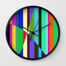 Stripes Interrupted Wall Clock